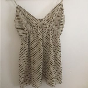 Cream with black dots camisole